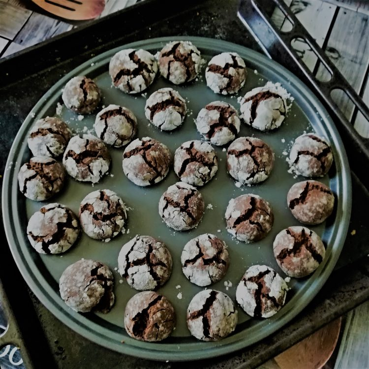 Biscuits crinkles au chocolat