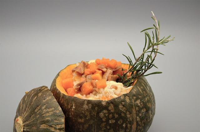 Pumpkin potiron Risotto