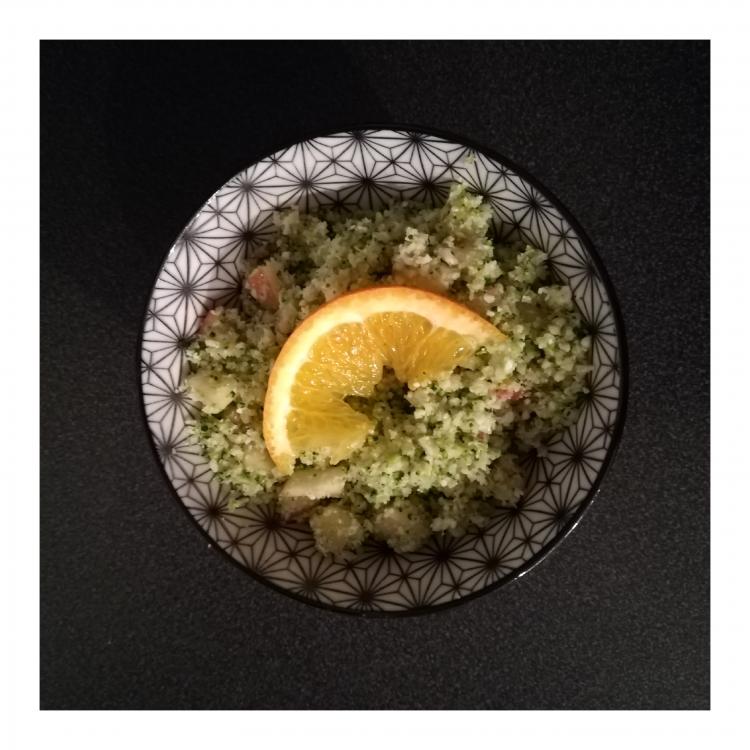 Taboulé chou fleur et brocoli